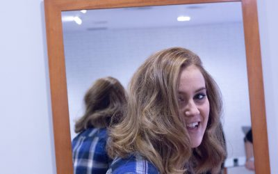 Como hacer mechas Balayage en cabello Teñido de rojo