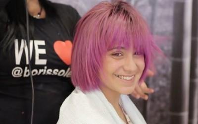 Como teñir un pelo rosa con terminacion violeta